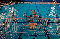 Pool Zusterna during water polo match between ASD Vaterpolo Rokava Koper and AVK Triglav Kranj in 3rd Round of Final of Slovenian Water polo National Championship, on June 8, 2011 in Zusterna pool, Koper, Slovenia. Rokava Koper defeated Triglav Kranj 12-6 and became Slovenian Champion 2011. (Photo By Vid Ponikvar / Sportida.com)