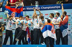 29-01-2012 WATERPOLO: EC SERBIA - MONTENEGRO: EINDHOVEN<br /> European Championships gold medal match Serbia - Montenegro / Serbia wins the gold medal match and is European Champion<br /> (c)2012-FotoHoogendoorn.nl / Peter Schalk