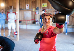 19.06.2017, Powerhof, Adnet, AUT, OeSV, Boxtraining Damen Slalom Team, im Bild Katharina Gallhuber (AUT) // during a Boxing Training Camp of the Austrian Ladies Slalom Team at the Powerhof in Adnet, Austria on 2017/06/19. EXPA Pictures © 2017, PhotoCredit: EXPA/ JFK