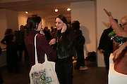 Sophie and Melissa Spillard, Moving Picture. Exhibition of work by Marcel Dzama. Timothy Taylor Gallery.  Dering St. London. 7 March 2007.  -DO NOT ARCHIVE-© Copyright Photograph by Dafydd Jones. 248 Clapham Rd. London SW9 0PZ. Tel 0207 820 0771. www.dafjones.com.