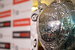 CARDIFF, WALES - Monday, October 3, 2016: The trophy during the draw for the 2nd Round of the Welsh Cup at the Vale Resort. (Pic by David Rawcliffe/Propaganda)