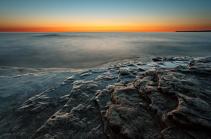 Twilight at Dawn  Horseshoe lake bay, Bruce Peninsula National Park, Ontario, Canada