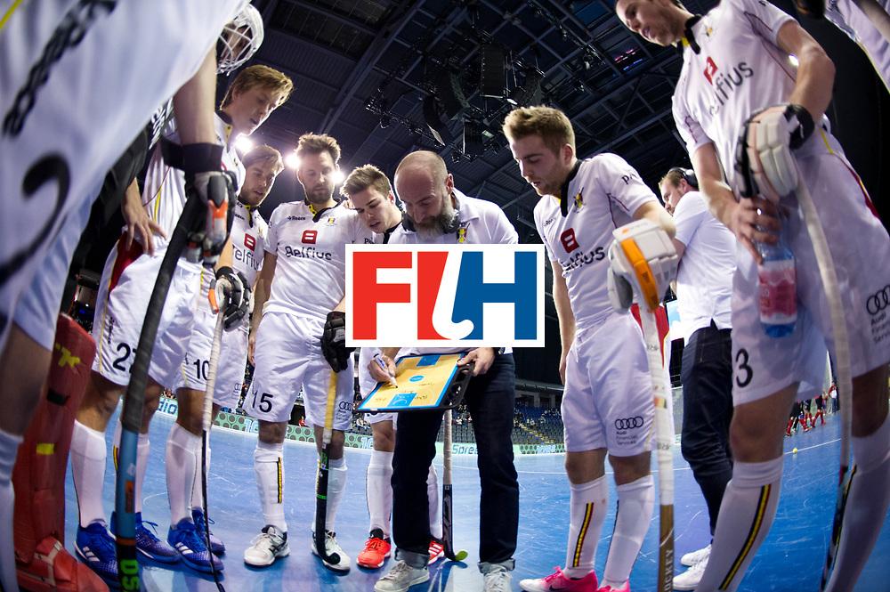 BERLIN - Indoor Hockey World Cup<br /> Men: Switzerland - Belgium<br /> foto: de CHAFFOY Alexandre.<br /> WORLDSPORTPICS COPYRIGHT FRANK UIJLENBROEK