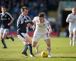 Dundee's Nicky Low and Inverness Caledonian Thistle's Miles Storey. <br /> Dundee 1 v 1 Inverness Caledonian Thistle, SPFL Ladbrokes Premiership game played at Dens Park, 27/2/2016.