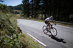 Thalita de Jong (NED) of Rabo-Liv Cycling Team digs deep on second KOM climb of the 117,5 km third stage of the 2016 Ladies' Tour of Norway women's road cycling race on August 13, 2016 between Svinesund, Sweden and Halden, Norway. (Photo by Balint Hamvas/Velofocus)