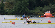 Hamburg. GERMANY. Junior Women's Single Sculls, GER. JW1X. Melanie GOELDNER and GRE JW1X. Sofia ASOUMANAKI.  Saturday Morning, Semi Finals A/B  at the 2014 FISA Junior World rowing. Championships.  11:27:38  Saturday  09/08/2014  [Mandatory Credit; Peter Spurrier/Intersport-images] 2014. Empacher. Hamburg.
