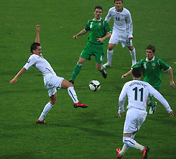 Andraz Kirm (17) at the fourth round qualification game of 2010 FIFA WORLD CUP SOUTH AFRICA in Group 3 between Slovenia and Northern Ireland at Stadion Ljudski vrt, on October 11, 2008, in Maribor, Slovenia.  (Photo by Vid Ponikvar / Sportal Images)