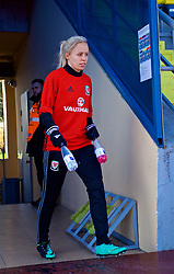 SAINT PETERSBURG, RUSSIA - Monday, October 23, 2017: Wales' Nadia Lawrence during a training session at the Petrovsky Minor Sport Arena ahead of the FIFA Women's World Cup 2019 Qualifying Group 1 match between Russia and Wales. (Pic by David Rawcliffe/Propaganda)
