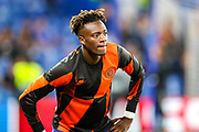 Chelsea forward Tammy Abraham (9) warms up during the Champions League match between Chelsea and Valencia CF at Stamford Bridge, London, England on 17 September 2019.