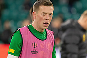 Callum McGregor (#42) of Celtic during the Europa League match between Celtic and Rennes at Celtic Park, Glasgow, Scotland on 28 November 2019.