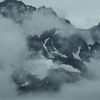 Mountain peaks south of Turnagain Arm
