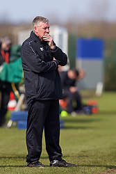 LIVERPOOL, ENGLAND - Saturday, April 9, 2016: Everton's manager Kevin Sheedy during the FA Premier League Academy match against Liverpool at Finch Farm. (Pic by David Rawcliffe/Propaganda)