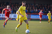 Fleetwood Town forward Wes Burns (7) runs with the ball during the EFL Sky Bet League 1 match between Accrington Stanley and Fleetwood Town at the Fraser Eagle Stadium, Accrington, England on 30 March 2019.