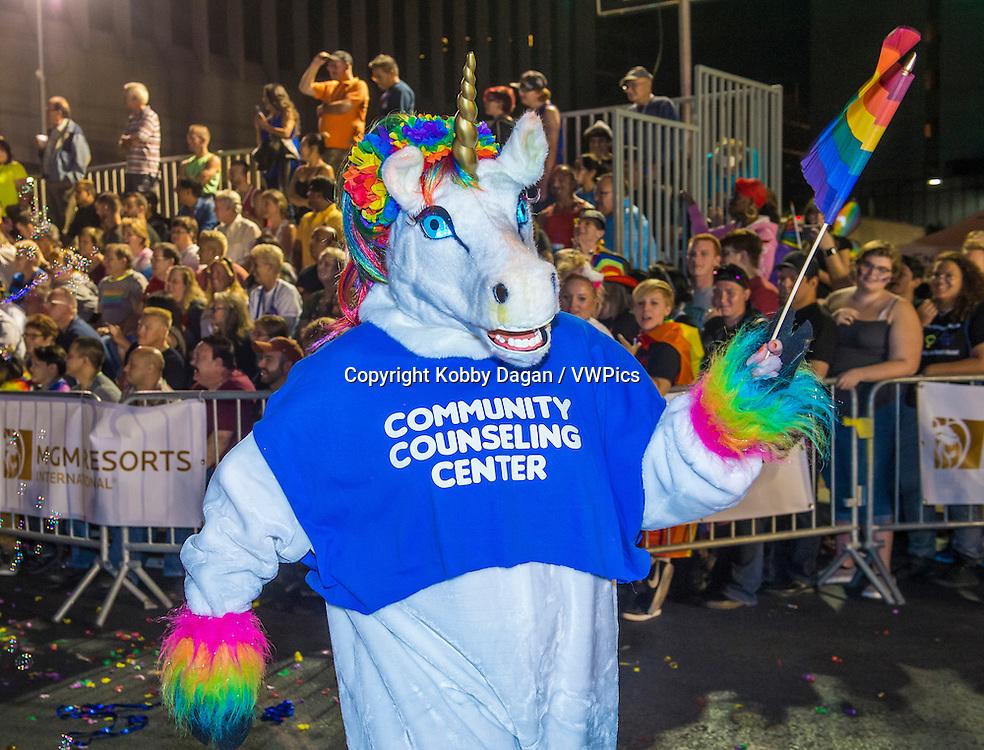 participants at the annual Las Vegas Gay pride parade