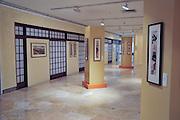 Israel, Haifa, Interior of the Tikotin Museum of Japanese Art