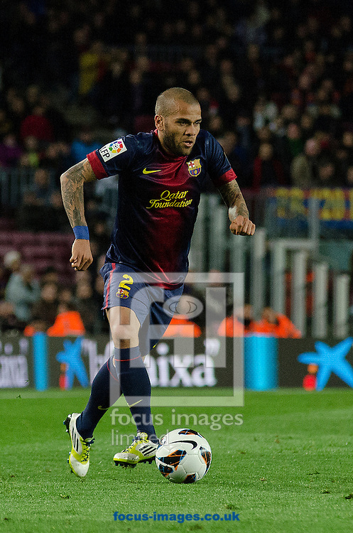 Picture by Cristian Trujillo/Focus Images Ltd +34 64958 5571.06/04/2013.Dani Alves of FC Barcelona during the La Liga match at Camp Nou, Barcelona.