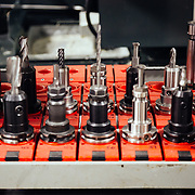 Every part in the construction of Fox Racing forks and shocks goes through multiple stages of milling and fine tuning.