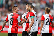Feyenoord-player Robin van Persie and Jordy Clasie celebrating the goal scored 1-0 during the Dutch football Eredivisie match between Feyenoord and Excelsior at De Kuip Stadium in Rotterdam, on August 19th, 2018 - Photo Stanley Gontha / Pro Shots / ProSportsImages / DPPI