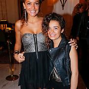 NLD/Amsterdam/20121112 - Beau Monde Awards 2012, Fajah Lourens en dochter Irem