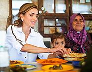 Queen Rania Visits Ajloun, Jordan