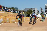 2018 Youth Olympic Games<br /> Buenos Aires, Argentina<br /> Mixed BMX - Race<br /> Final Men<br /> GLAZERS Edvards (LAT)<br /> BESKROVNYY Ilia (RUS)<br /> CHAMORRO Efrain (ECU)<br /> SUKPRASERT Komet (THA)<br /> RAMIREZ Juan (COL)<br /> CALKIN Cailen (NZL)