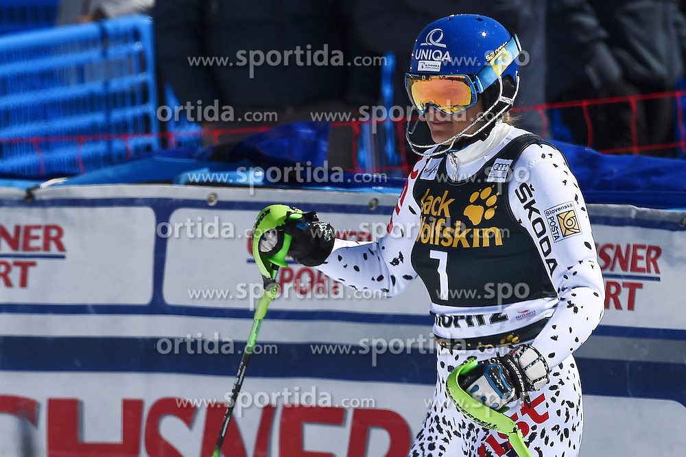 19.03.2016, Engiadina, St. Moritz, SUI, FIS Weltcup Ski Alpin, St. Moritz, Slalom, Damen, im Bild Veronika Velez Zuzulova (SVK) // during ladie's Slalom of st. Moritz Ski Alpine World Cup finals at the Engiadina in St. Moritz, Switzerland on 2016/03/19. EXPA Pictures &copy; 2016, PhotoCredit: EXPA/ Freshfocus/ Manuel Lopez<br /> <br /> *****ATTENTION - for AUT, SLO, CRO, SRB, BIH, MAZ only*****