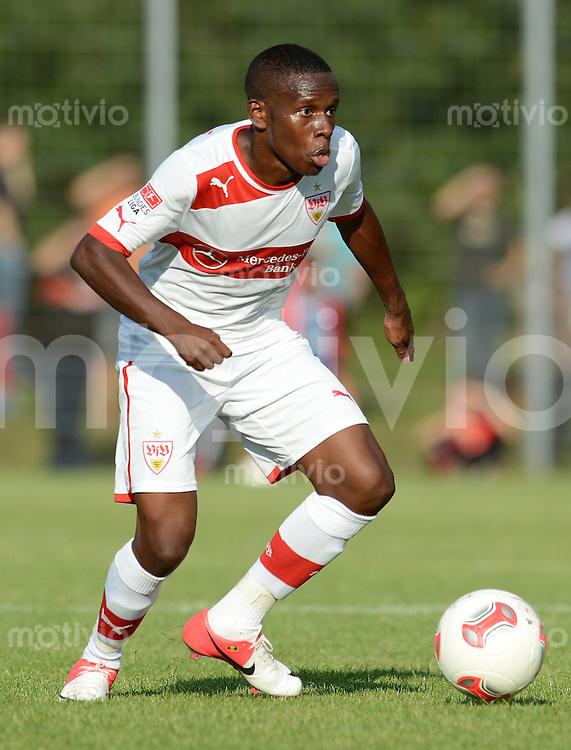 Fussball 1. Bundesliga:  Saison   2012/2013     Testspiel:  TSV Schwaikheim - VfB Stuttgart   06.07.2012 Ibrahima Traore (VfB Stuttgart)  am Ball