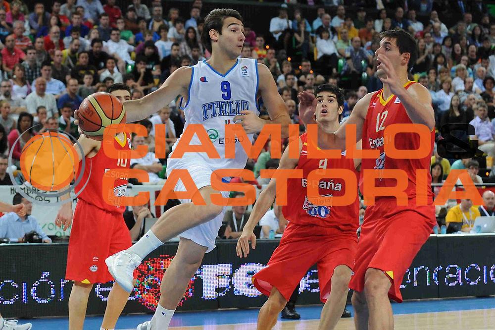 DESCRIZIONE : Bilbao Spain U20 European Championship Men Final 1st 2nd Place Italy Spain Italia Spagna<br /> GIOCATORE : Riccardo Moraschini<br /> SQUADRA : Nazionale Italiana Uomini U20<br /> EVENTO : Bilbao Spain U20 European Championship Men Final 1st 2nd Place Italy Spain Europeo Maschile Under 20 Finale Italia Spagna<br /> GARA : Italy Spain Italia Spagna<br /> DATA : 24/07/2011<br /> CATEGORIA : <br /> SPORT : Pallacanestro <br /> AUTORE : Agenzia Ciamillo-Castoria/M.Marchi<br /> Galleria : Europeo Under 20 Maschile 2011<br /> Fotonotizia : Bilbao Spain U20 European Championship Men Final 1st 2nd Place Italy Spain Italia Spagna<br /> Predefinita :