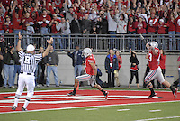 Devon Torrence scores a touchdown in the Ohio State vs Penn State game on Nov. 13, 2010 at Ohio Stadium in Columbus, Ohio.