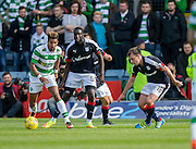 Dundee&rsquo;s Kevin Gomis and Paul McGowan keep a close eye on Celtic&rsquo;s Scott Sinclair - Dundee v Celtic in the Ladbrokes Scottish Premiership at Dens Park, Dundee. Photo: David Young<br /> <br />  - &copy; David Young - www.davidyoungphoto.co.uk - email: davidyoungphoto@gmail.com