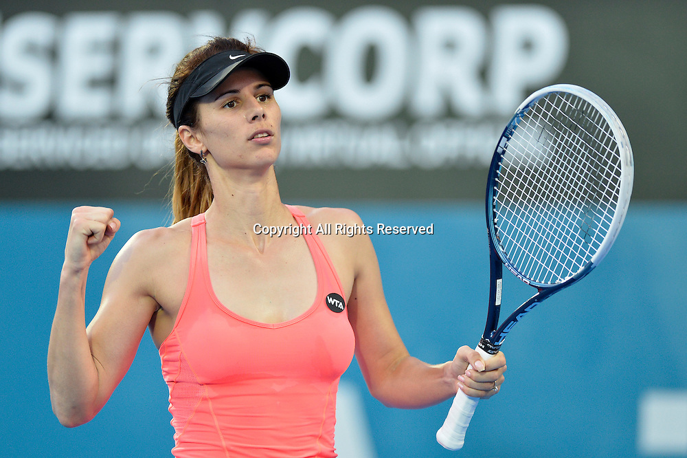 14.01.15 Sydney, Australia. Tsvetana Pironkova   (BUL) in action against Barbora Zahlavova Strycova (CZE) during her singles match at the Apia International Sydney.