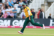 Samit Patel of Nottinghamshire Outlaws fielding during the Vitality T20 Blast North Group match between Nottinghamshire County Cricket Club and Worcestershire County Cricket Club at Trent Bridge, West Bridgford, United Kingdon on 18 July 2019.