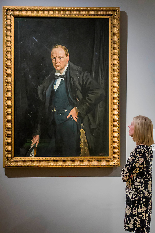 Sir Winston Churchill by Sir William Orpen - The National Portrait Gallery, London opens brand new gallery spaces devoted to its early 20th Century Collection on 4 November 2017. The creation of these new spaces within the Gallery's free permanent Collection, has been made possible by a grant from the DCMS/ Wolfson Museums & Galleries Improvement Fund. London 03 Nov 2017.