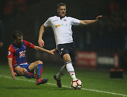 Mathieu Flamini of Crystal Palace (L) and Jamie Proctor of Bolton Wanderers in action - Mandatory by-line: Jack Phillips/JMP - 07/01/2017 - FOOTBALL - Macron Stadium - Bolton, England - Bolton Wanderers v Crystal Palace - FA Cup Third Round