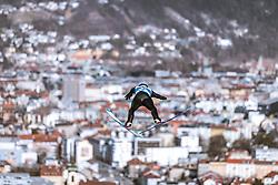 21.02.2019, Bergiselschanze, Innsbruck, AUT, FIS Weltmeisterschaften Ski Nordisch, Seefeld 2019, Nordische Kombination, Skisprung, Training, im Bild Franz Josef Rehrl (AUT) // Franz Josef Rehrl of Austria during a training of Ski Jumping competition for Nordic Combined of FIS Nordic Ski World Championships 2019. Bergiselschanze in Innsbruck, Austria on 2019/02/21. EXPA Pictures © 2019, PhotoCredit: EXPA/ Dominik Angerer