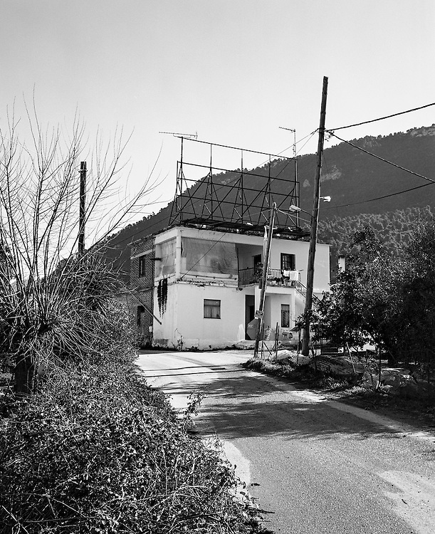 Greece, January 2015 Empty and destroyed billboards and advertising panels next to the main national road between Athens and Thessaloniki. The decline in advertising revenue from the beginning of the crisis is more then 80%  by Wiktor Dabkowski