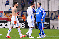 Deception Lucas OCAMPOS / Andre Pierre GIGNAC / Marcelo BIELSA - 24.04.2015 - Marseille / Lorient - 34eme journee de Ligue 1<br />