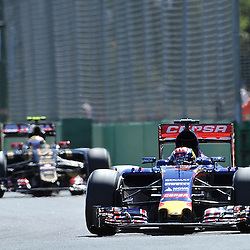 Max Verstappen of Scuderia Toro Rosso.<br /> Round 1 - Second day of the 2015 Formula 1 Rolex Australian Grand Prix at The circuit of Albert Park, Melbourne, Victoria on the 13th March 2015.<br /> Wayne Neal | SportPix.org.uk