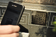 NINGBO, CHINA -  (CHINA OUT) <br /> <br /> Matrix Barcodes On Tombs In Zhejiang<br /> A two-dimensional quick response barcode (QR code) is affixed to a tombstone to offer smartphone users extended information about the person buried beneath on March 28, 2013 in Ningbo, Zhejiang Province of China. Scanned with digital gadgets, the 2D barcode will provide information and stories about the deceased through photos and videos. According to Wang Bo, a regional manager of a network company that produced the codes, relatives can set passwords to protect privacy, and the code stickers are currently mainly applied to tombs of celebrities and martyrs. There are many tombs with QR code stickers in Shanghai, Shenyang, Xiamen and Fujian. <br /> ©ChinaFoto/Exclusivepix