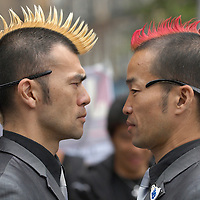 Japanese duo Gamarjobat performing in Edinburgh<br />
