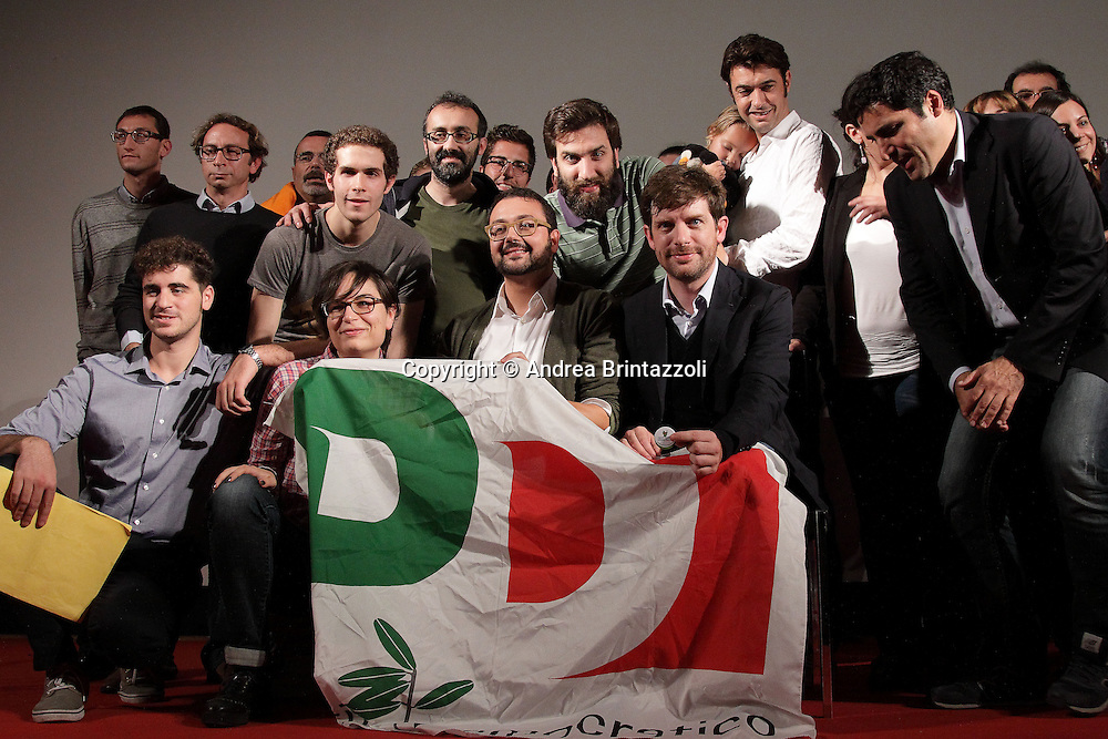 """Pesaro 02 Novembre 2013 Cinema Astra """"Le cose cambiano, cambiandole""""  Giuseppe Civati candidato alla segreteria del Partito Democratico."""
