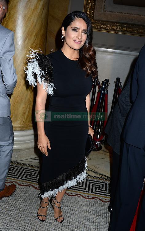 Salma Hayek attending the Women's Media Awards gala at Capitale n New York City, NY, USA, on September 29, 2016. Photo by Dennis Van Tine/ABACAPRESS.COM