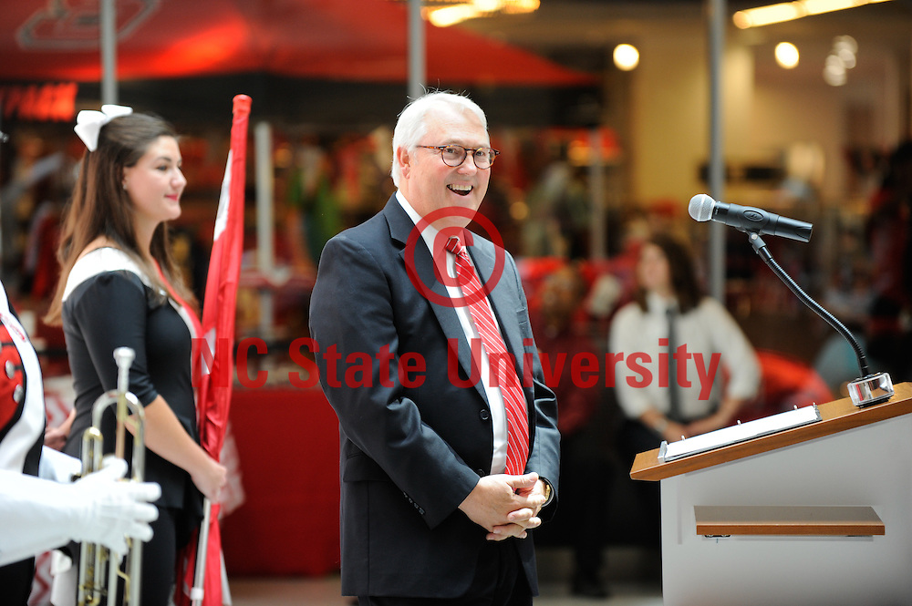 Chancellor Woodson is all smiles during the opening of the new Talley Student Union.