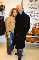 Actress TANYA FRANKS and her husband STUART MULLINS at a party to celebrate the opening of the new H&M Flagship Store at 17-21 Brompton Road, London SW3 on 23rd March 2005.<br /><br />NON EXCLUSIVE - WORLD RIGHTS