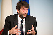 Rome sep 18th 2015, cabinet meeting press conference. In the picture Dario Franceschini