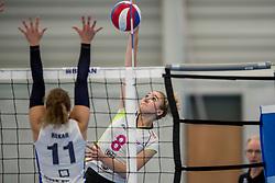 25-10-2017 NED: Sliedrecht Sport - Eurosped TVT, Sliedrecht<br /> Sliedrecht Sport wint met 3-1 van Eurosped / Bo Duteweert #8 of Eurosped, Ana Rekar #11 of Sliedrecht Sport