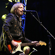 Tom Petty sings while playing with his band The Hartbreakers during the frist night of a 2 night stand at The Gorge Ampitheater, George, WA on June 11, 2010