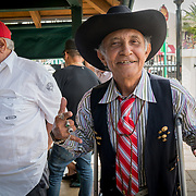 MIAMI, FLORIDA, APRIL 22, 2017<br /> Eutimio A. Diaz, 69,  in Miami's Little Havana neighborhood's Maximo Gomez Domino Park. Many Miami Cubans voted for Donald Trump in the general elections. Trump will soon complete his first 100 days as United States President.<br /> (Photo by Angel Valentin/Freelance)