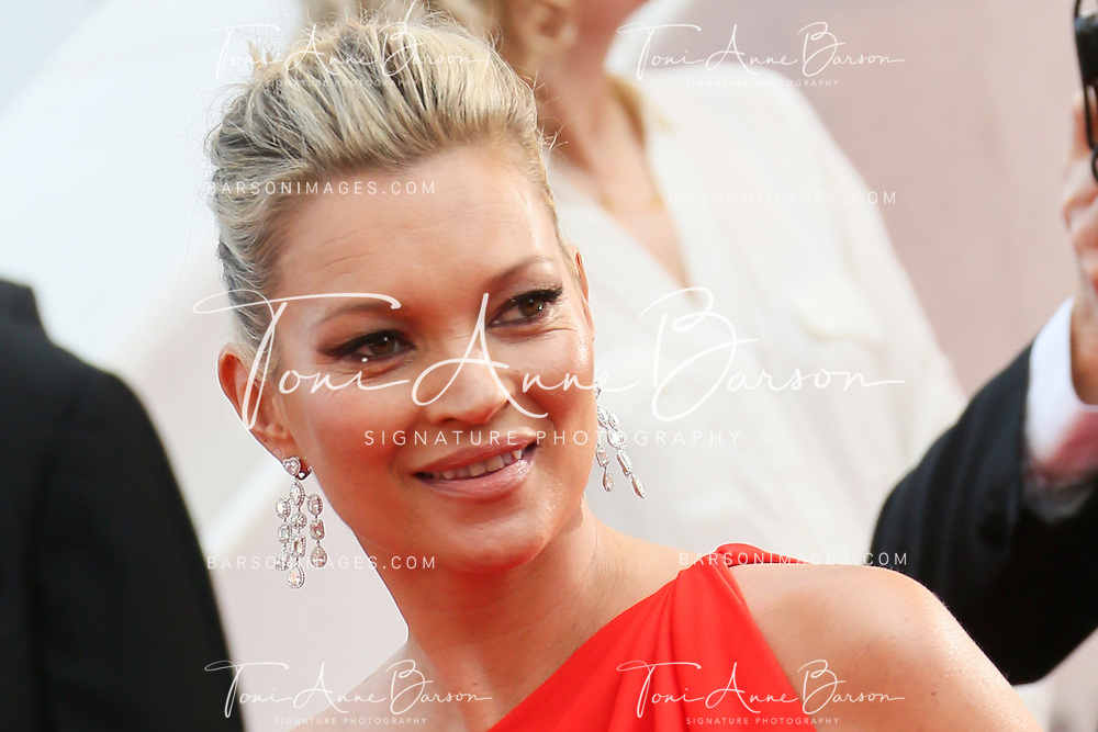 "CANNES, FRANCE - MAY 16:  Kate Moss attends a screening of ""Loving"" at the annual 69th Cannes Film Festival at Palais des Festivals on May 16, 2016 in Cannes, France.  (Photo by Tony Barson/FilmMagic)"