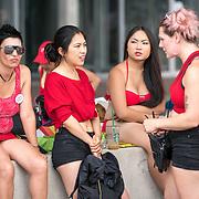 NLD/Amsterdam/20180604 - Gaypride 2018, Dutch sexworkers wachten op hun boot